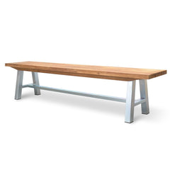 Castilo Outdoor Bench - Galvanized Legs