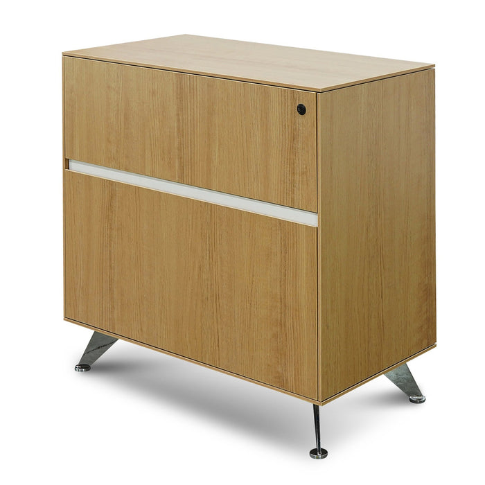 Excel 2 Drawer Lateral Wooden Filing Cabinet - Natural