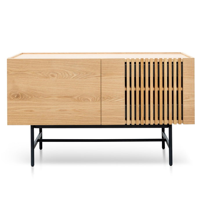 Onito 120cm Wooden Buffet Unit - Natural with Black Legs
