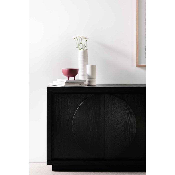 Bonnie 2m Wooden Buffet Unit - Textured Espresso Black