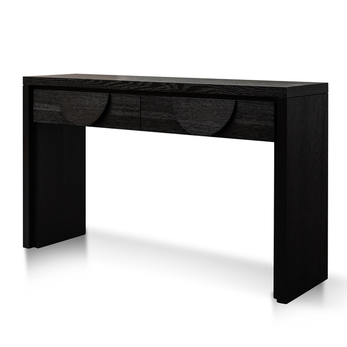 Bonnie 140cm Wooden Console Table with Drawers - Textured Espresso Black