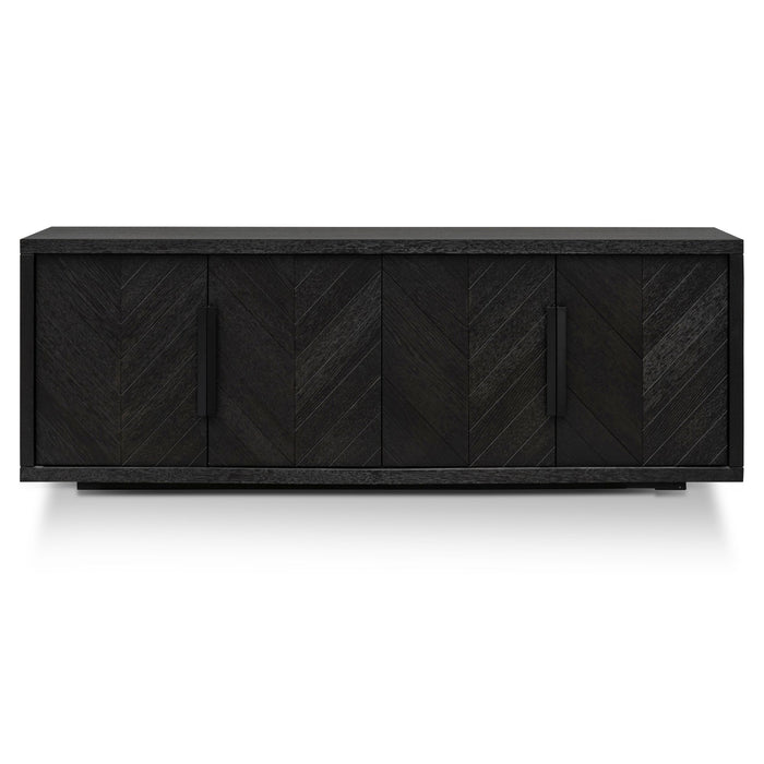 Miriam 2m Oak Buffet Unit - Textured Espresso Black