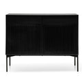 Edmund 110cm Wooden Sideboard Unit - Black Oak