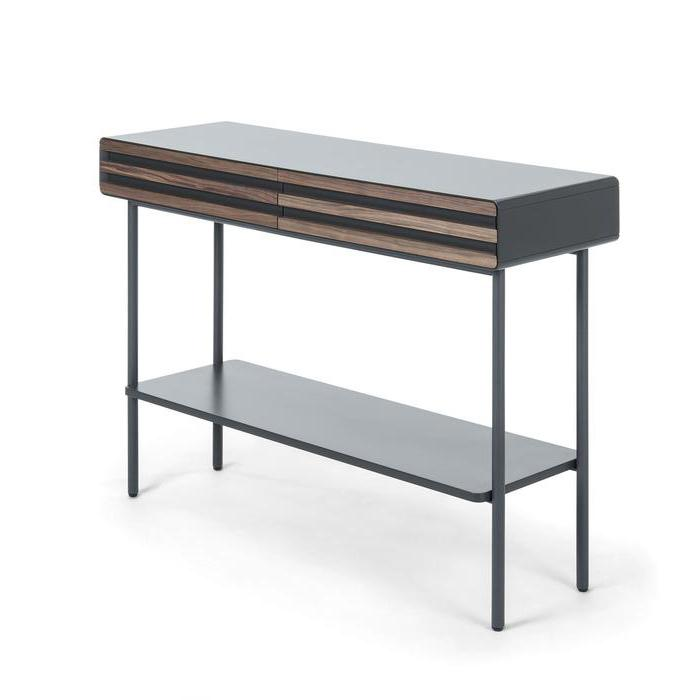 Mahon Wooden Console Table - Walnut