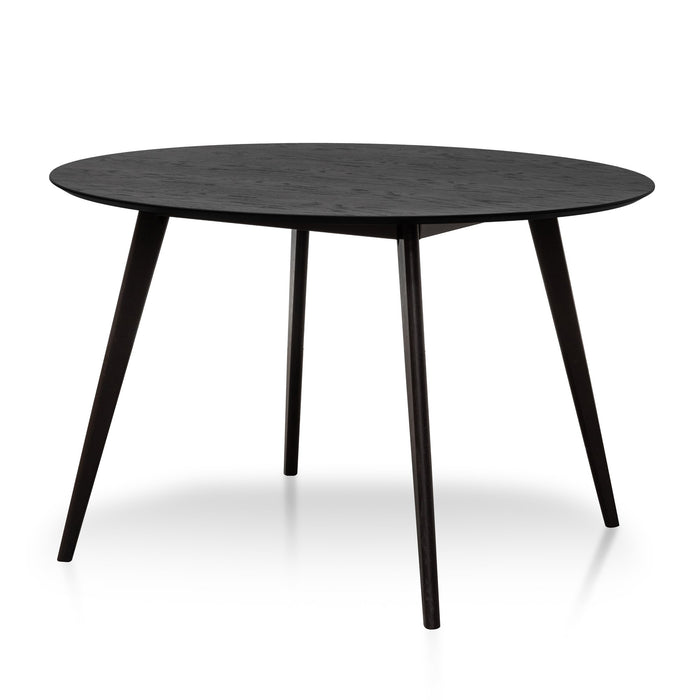 Swanson 1.2m Round Dining Table - Full Black