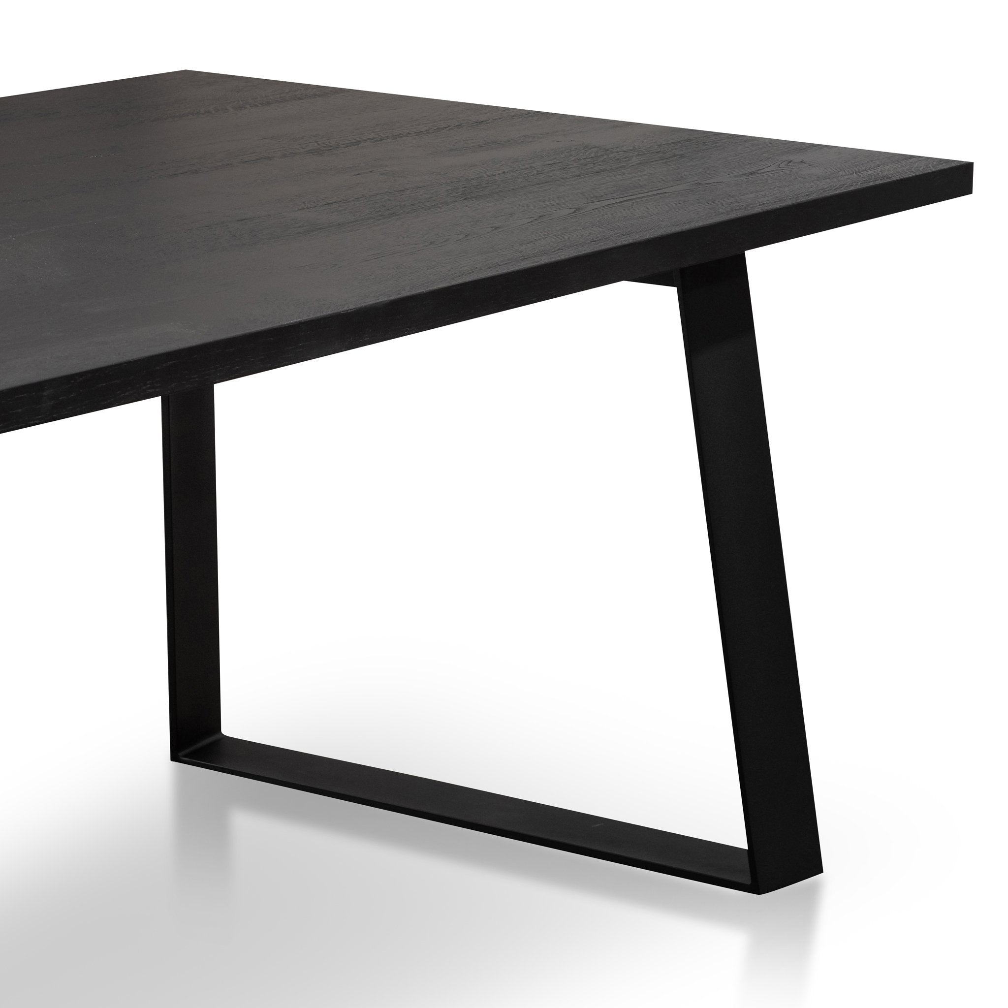 Picture of: Hudson 2 2m Straight Top Dining Table Black Rustic Interior Secrets