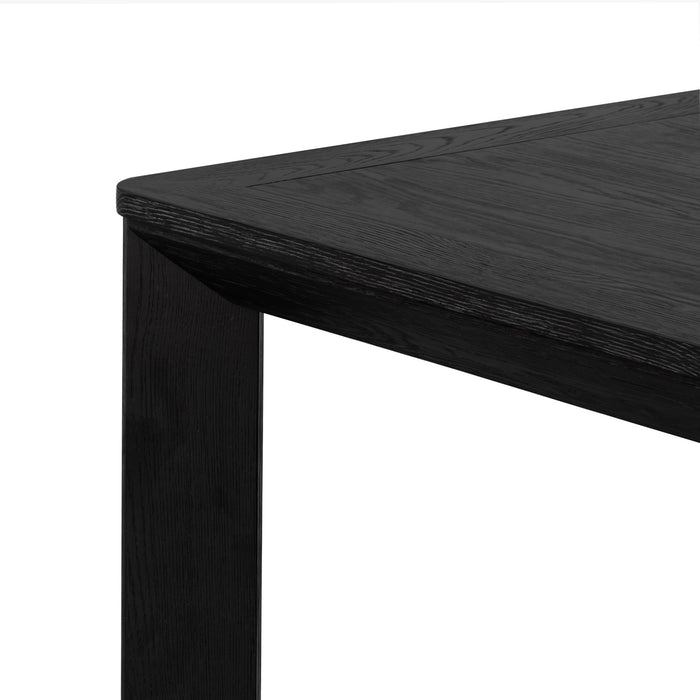Lambert 3m Wooden Dining Table - Full Black