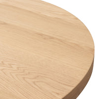 Garcia 1.2m Round Dining Table - Rustic Natural D100