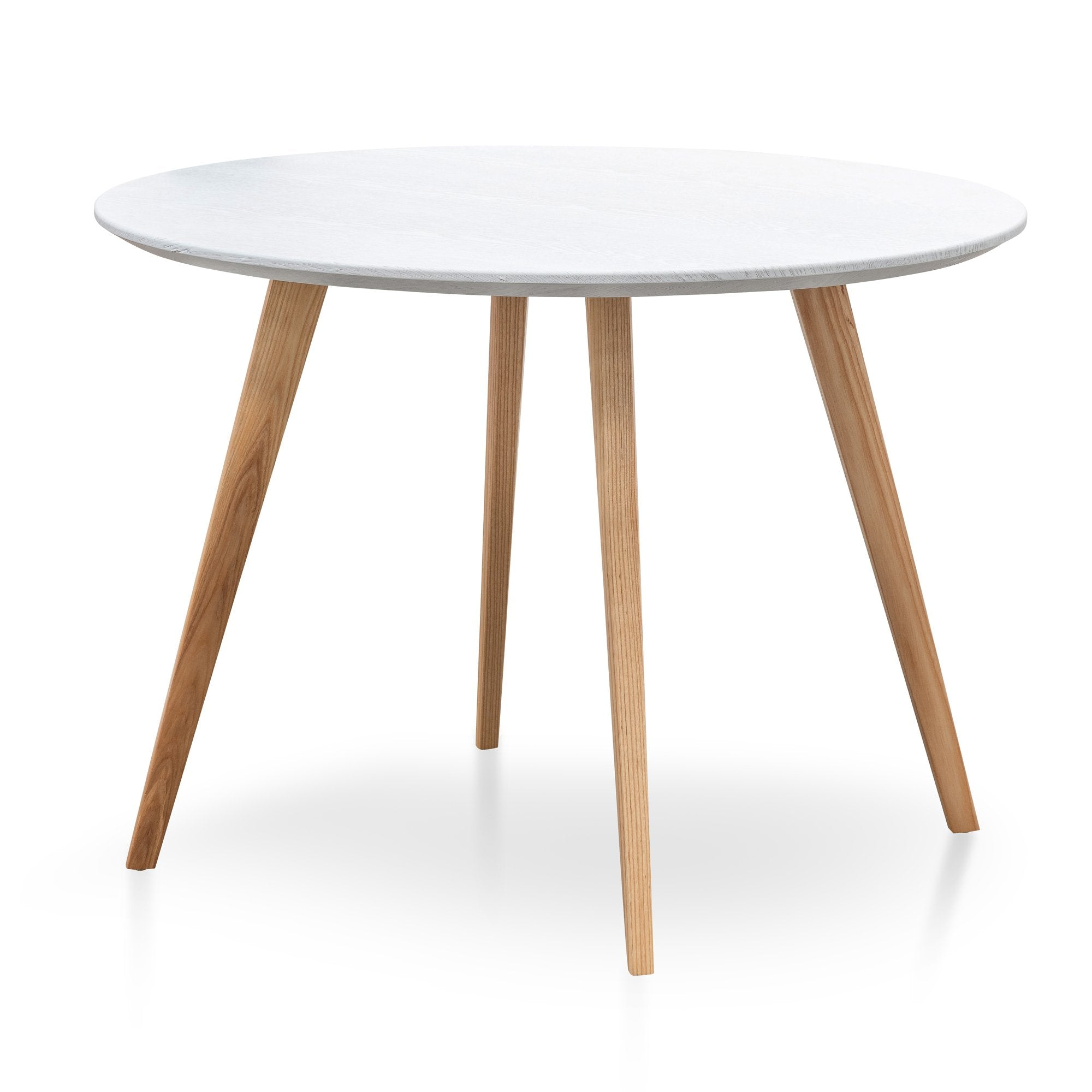 Halo 9m Round Dining Table   Washed White Top   Natur..   Interior Secrets