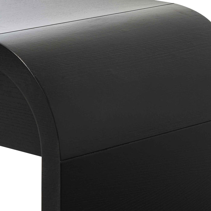 Harley 1.4m Console Table - Textured Espresso Black