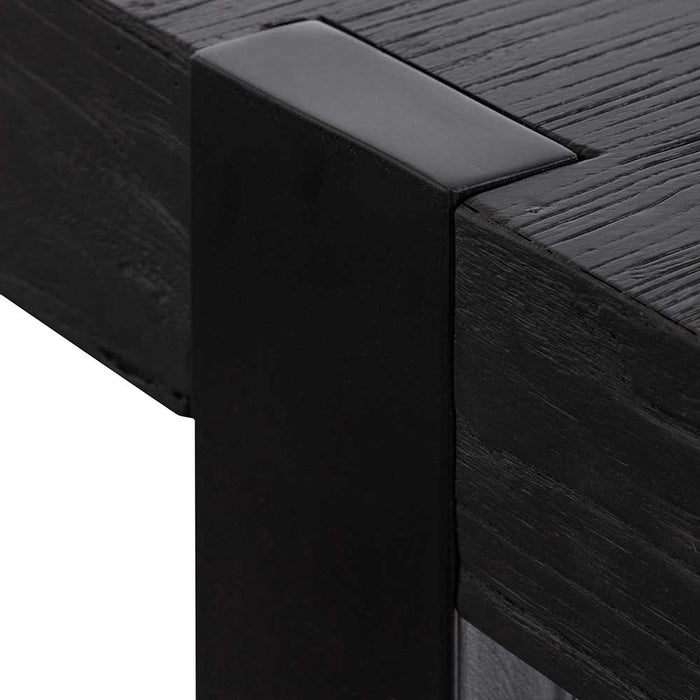 Kohen 1.5m Wooden Console Table - Full Black