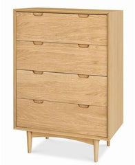 Asta 4 Drawer Chest Scandinavian Design - Natural
