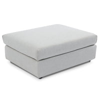 Jamaal 4 Seater Left Chaise Sofa with Ottoman - Light Texture Grey