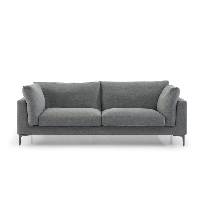 Malone 3 Fabric Seater Sofa - Dark Grey with Black Legs