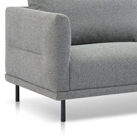 Garner 3 Seater Fabric Sofa - Rock Grey with Black Legs