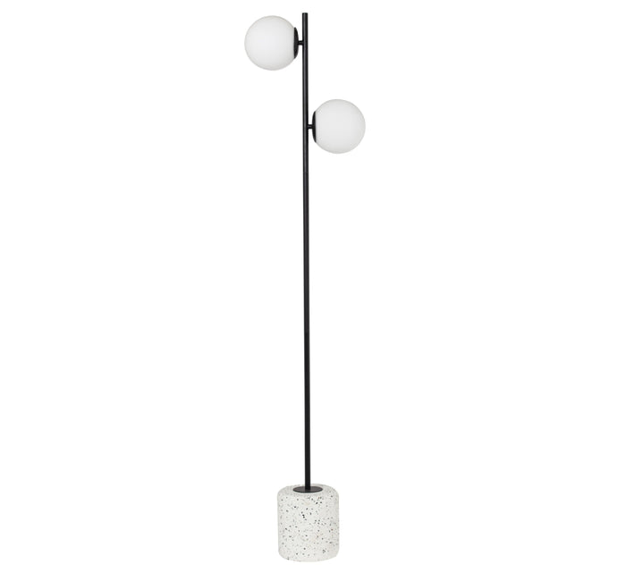 Flo Terazzo Floor Lamp - White