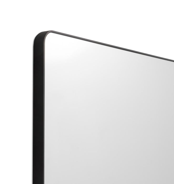 Flynn 120cm Curve Rectangular Mirror - Black