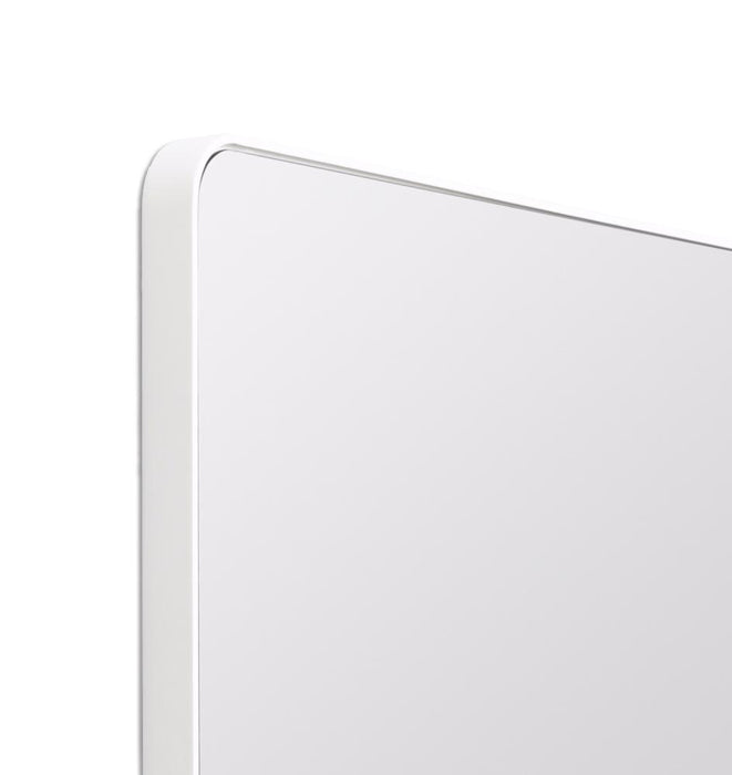Flynn 120cm Curve Rectangular Mirror - White