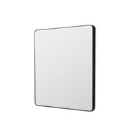 Flynn 80cm Curve Rectangular Mirror - Black