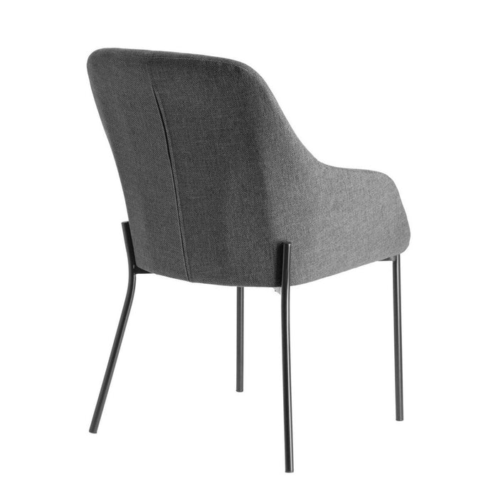 Fracta Fabric Dining Chair - Grey