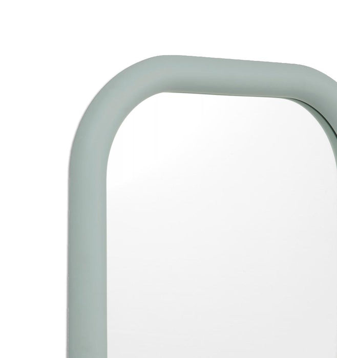 Gertrude 100cm Curved Edge Rectangular Mirror - Dusty Blue