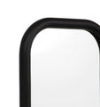 Gertrude 70cm Curved Edge Rectangular Mirror - Black