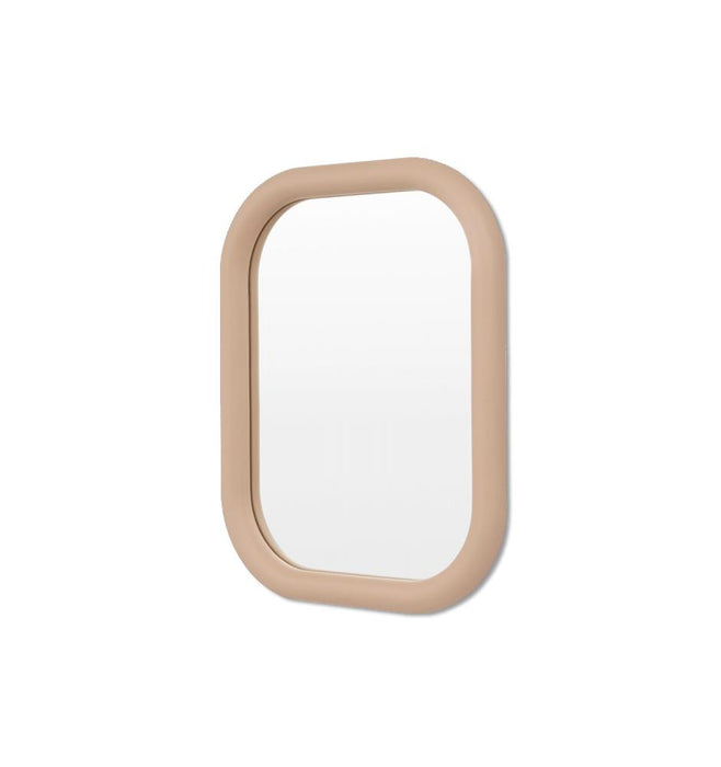 Gertrude 70cm Rounded Rectangular Mirror - Taupe