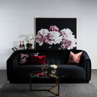 Jayde 3 Seater Sofa - Black Velvet