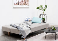 Amanda 3 Seater Fabric Sofa Bed - Light Grey