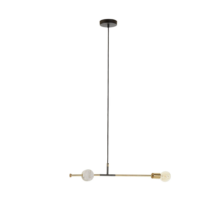 Juke White Marble Pendant Light