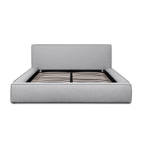 Castillo Fabric Queen Bed Frame - Pearl Grey