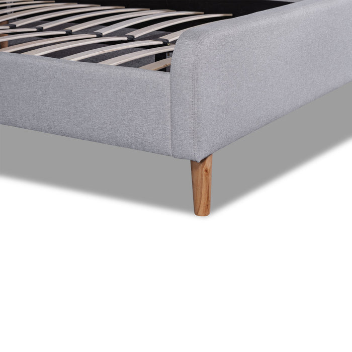 Houston Fabric King Sized Bed Frame - Rhino Grey