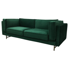 Kendall Velvet 3 Seater Sofa - Emerald Green