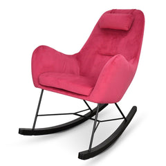 Vera Rocking Chair - Hot Pink - Black Legs