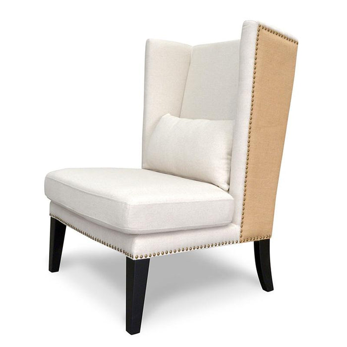 Mercer Lounge Fabric Wingback Chair - Classic Cream