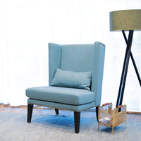 Mercer Lounge Fabric Wingback Chair - Teal