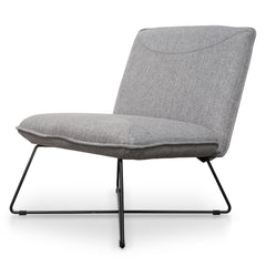Yolanda Fabric Lounge Chair - Light Grey