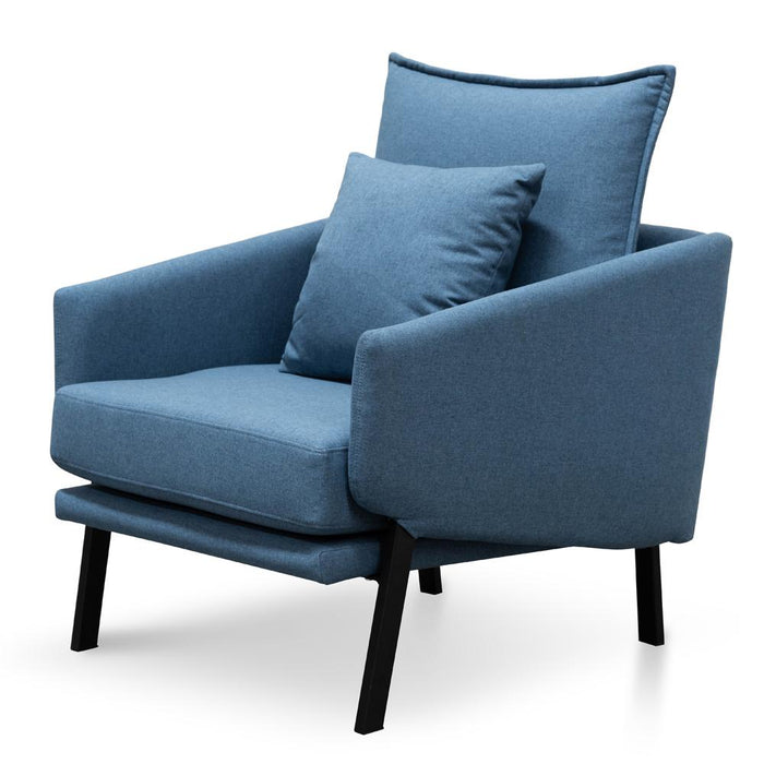 Moreno Fabric Lounge Chair - Blue