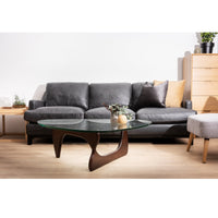 Hensley 3 Seater Sofa - Charcoal Leather