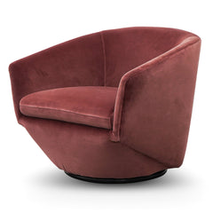 Donna Velvet Lounge Chair - Blood Orange