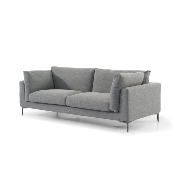 Malone 3 Seater Fabric Sofa - Graphite Grey with Black Legs