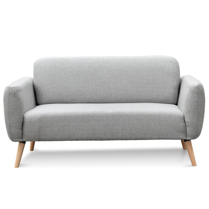Delbert 2 Seater Fabric Sofa - Landmark Grey
