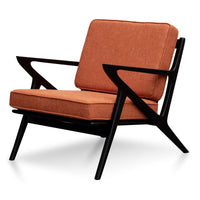Kirk Fabric Armchair - Woodland Brown with Black Legs