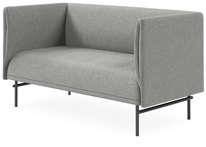 Noor Fabric 2 Seater Sofa - Light Grey