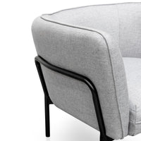 Vilma Fabric Lounge Chair - Grey - Black Base