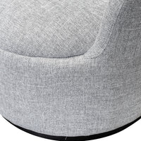 Elmer Fabric Lounge Chair - Pigeon Grey with Black Base