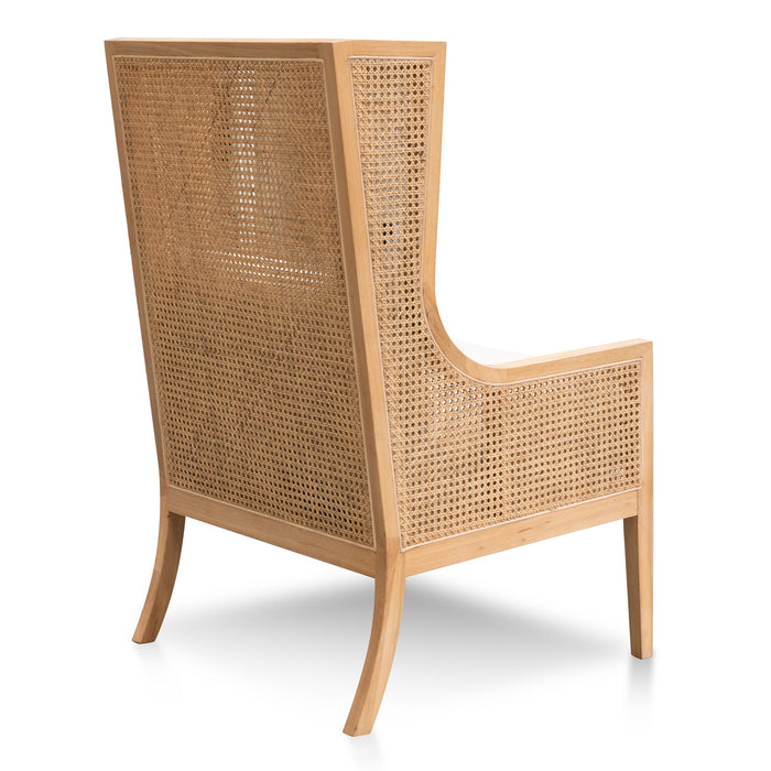 Lowell Wingback Rattan Armchair - Sand White