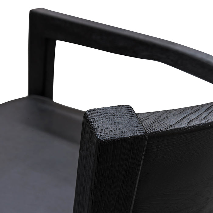 Wendell Black Wooden Armchair - Black Seat