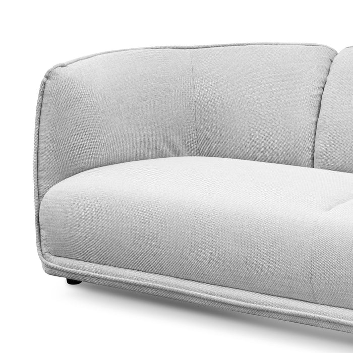 Chapman 3 Seater Fabric Sofa- Light Texture Grey