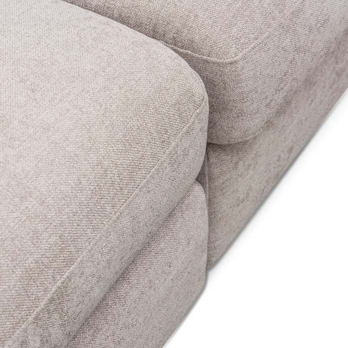 Hawkins 4 Seater Fabric Sofa Right Chaise - Oyster Beige
